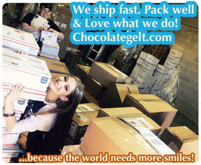 #chocolategelt #lovechocolategelt. We ship Chanukah and Purim supplies everywhere. We Love What We Do! Chocolategelt.com - About Us