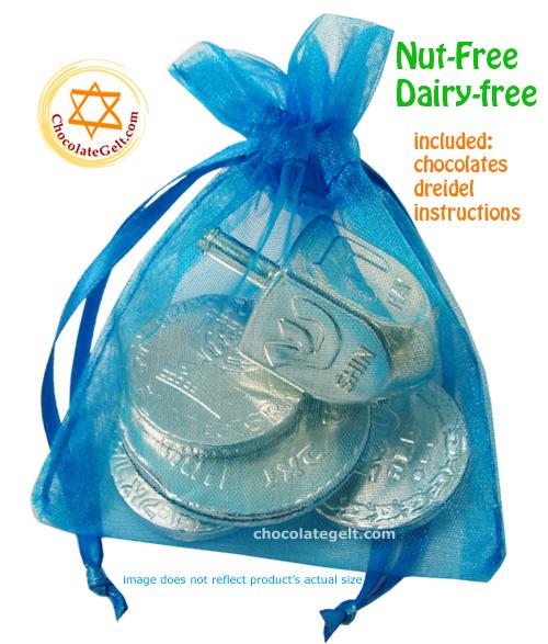 Chocolate Coins Dreidel Parve Ocean Chanukah Favors