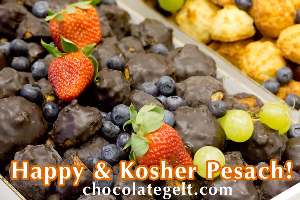 "Passover chocolate covered macaroons in bulk made of coconut at a local kosher bakery"" border="
