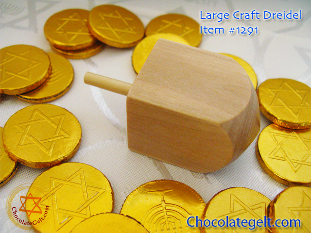 wooden dreidel craft