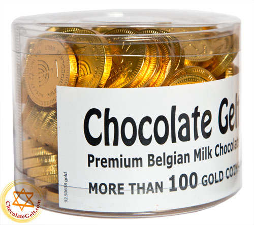 100 Milk GOLD Chocolate Chanukah Gelt Coins OU