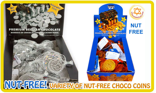 nut-free chocolate coins chocolategelt.com