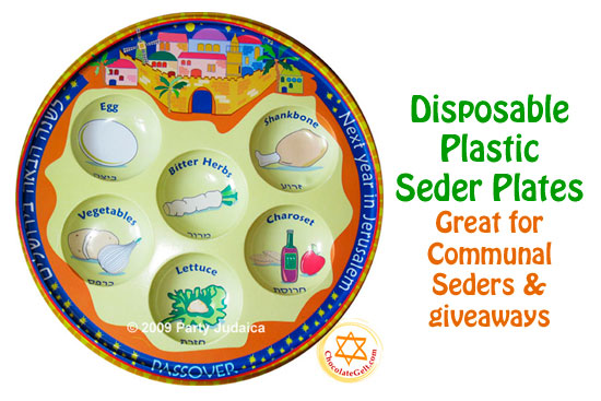 Passover 2013 Disposable Seder Plates