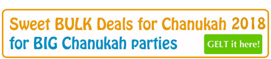 Best Sweet Deals for a big Chanukah Party Buy Now at Chocolategelt.com Decorations #chocolategelt