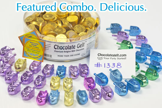 chocolate coins kosher and dreidels discount combo