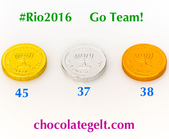 #rio2016 #olympics Go Team! chocolate gelt time