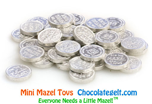 Mini Mazel Tovs SILVER Chocolate Coins Kosher OU-D