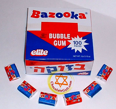 Kosher for Passover Bazooka Bubble Gum - Made in Israel