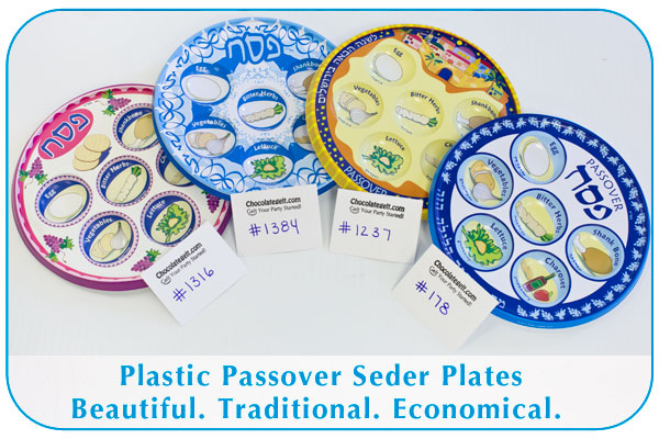Disposable Plastic Seder Plates from chocolategelt.com