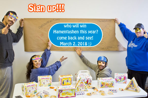 Who will win hamentashen this year at Chocolategelt.com? Kosher Hamentashen, Macaroons, Gelt and more
