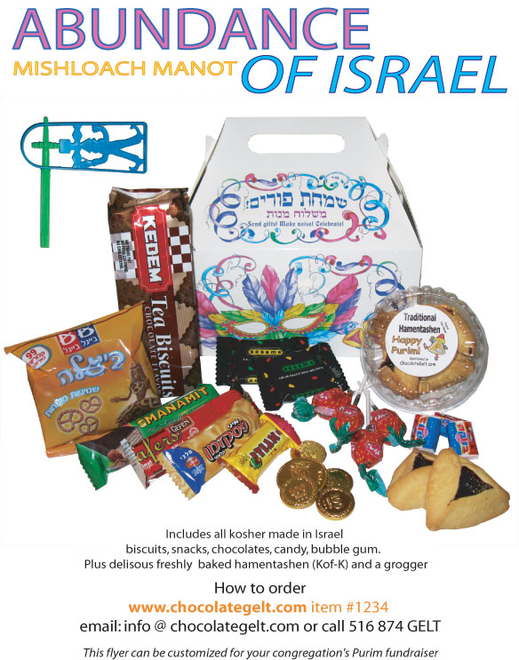 abundance of israel purim gifts of 20
