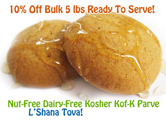 Rosh Hashanah Honey Cookies in Bulk 5 lbs tray. Ready to Serve. Chocolategelt.com