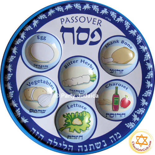 sc 1 st  ChocolateGelt.com & Disposable Seder Plates (BL) - PACK OF 10