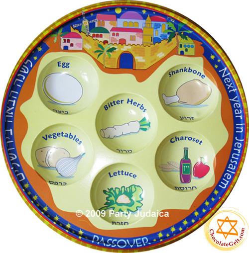sc 1 st  ChocolateGelt.com & Plastic Seder Plate Jerusalem (EACH)