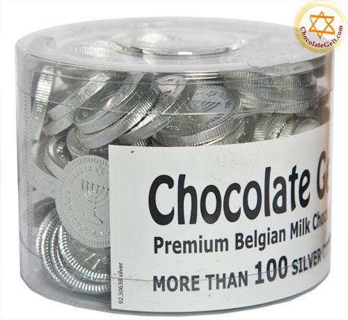 100 Milk Silver Chocolate Coins Ou Kosher Dairy
