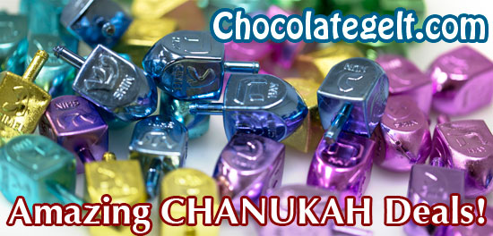 Chanukah 2016 at chocolategelt.com Amazing Chanukah Deals