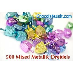 500 Mixed Metallic Dreidels