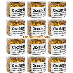 Case of 12 x 100 GOLD Chocolate Coins Wholesale Case Kosher OU Dairy
