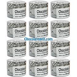 Case of 12 x 100 SILVER Chocolate Coins Wholesale Case Kosher OU Dairy