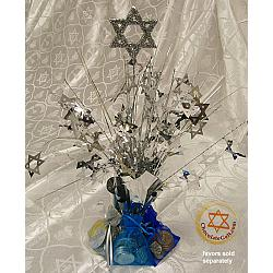 Case of 12 Silver Chanukah Centerpieces