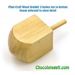 50 Large Wood Dreidel Craft