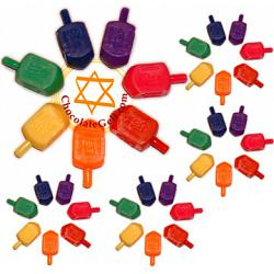 Discount Bulk Case of 500 Plastic Dreidels