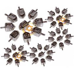 Discount Case of 500 Silver Metallic Plastic Dreidels