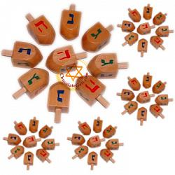 Discount Bulk Case of 500 Natural Wood Dreidels