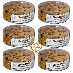 Wholesale case of Milk Chocolate Gelt 6 tubs of 310 coins