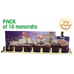 Tin Menorahs imported from Israel - PACK of 10